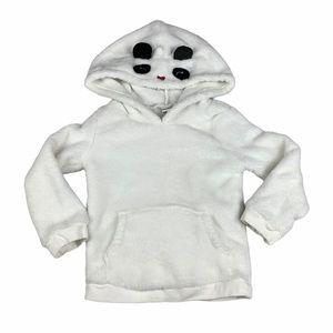 Carter's White Polar Bear Hoodie Fuzzy Soft Warm